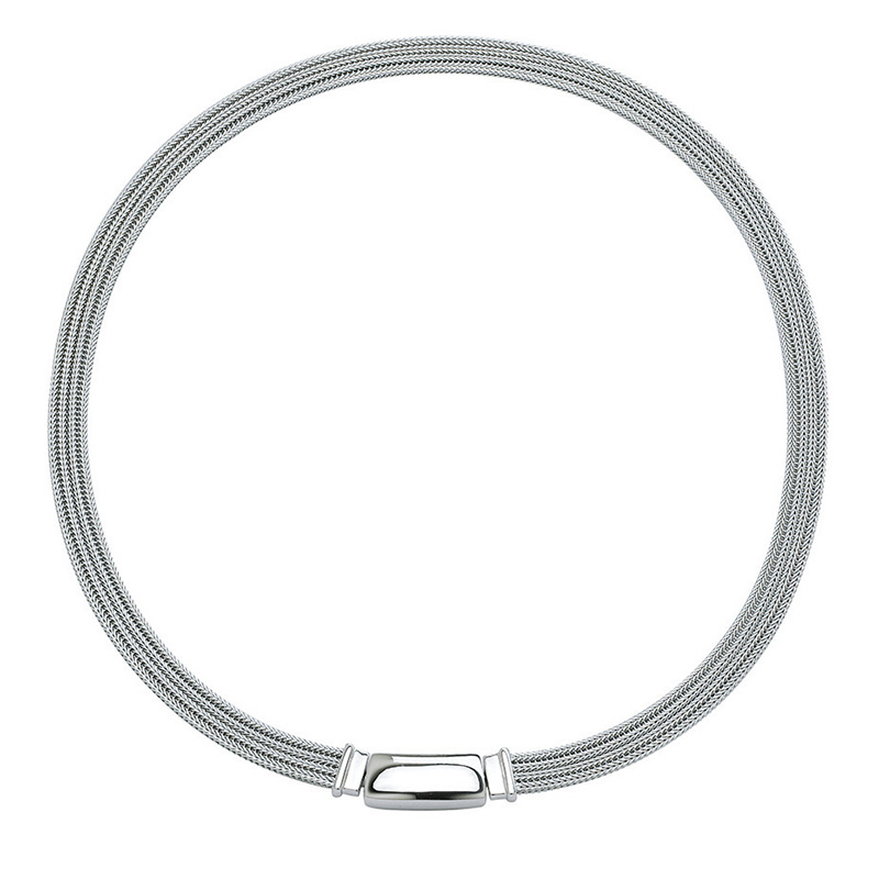 MAGNETIC Collier, rhodium plated
