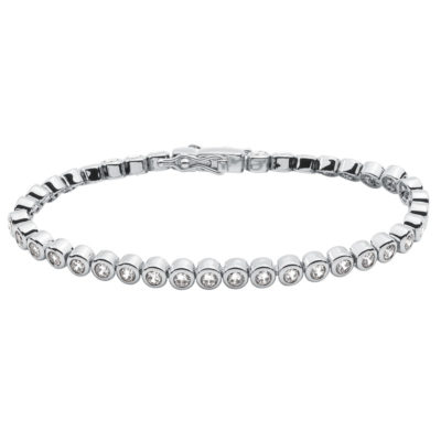 TENNIS Bracelet, rhodium plated, Zirconia