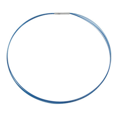 FINO Collier, rhodium plated, blue