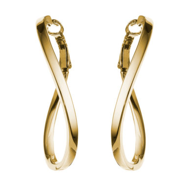 ALEXA Ear Creoles, gold plated