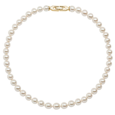 CLASSY PEARL Necklace, gold plated, cream-rose