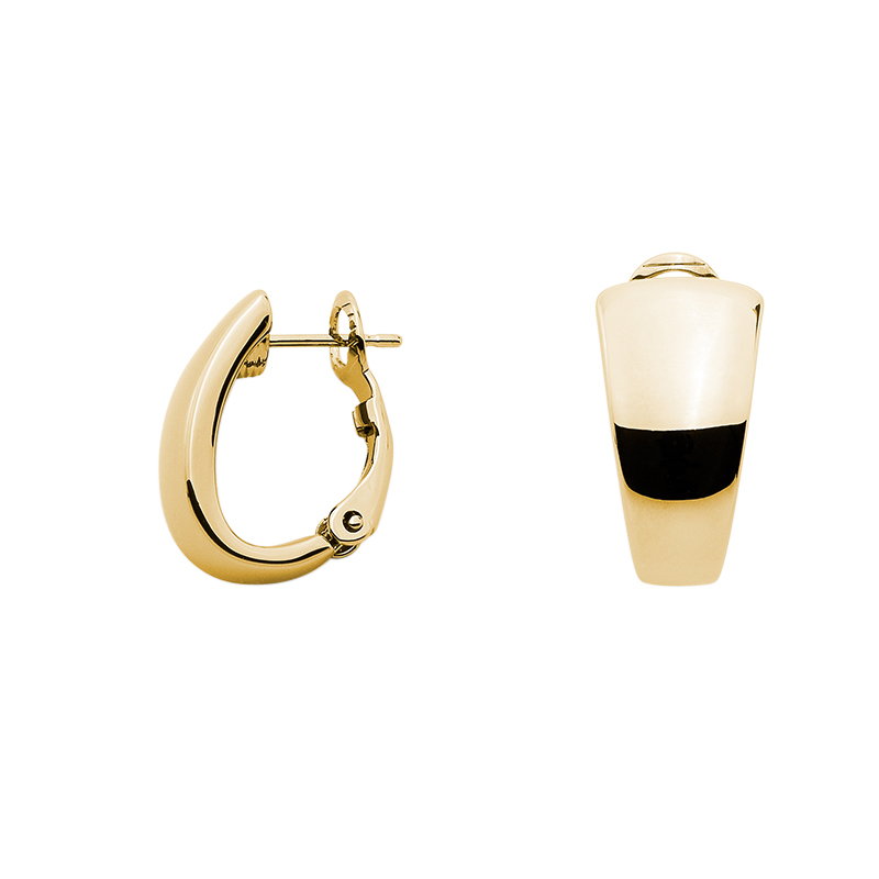 BUBBLES TOP Ear Creoles, gold plated
