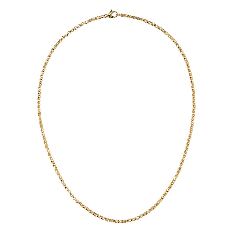 CIRCLE Necklace, gold plated
