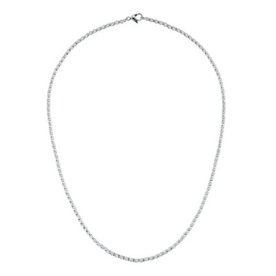 CIRCLE Necklet, rhodium plated
