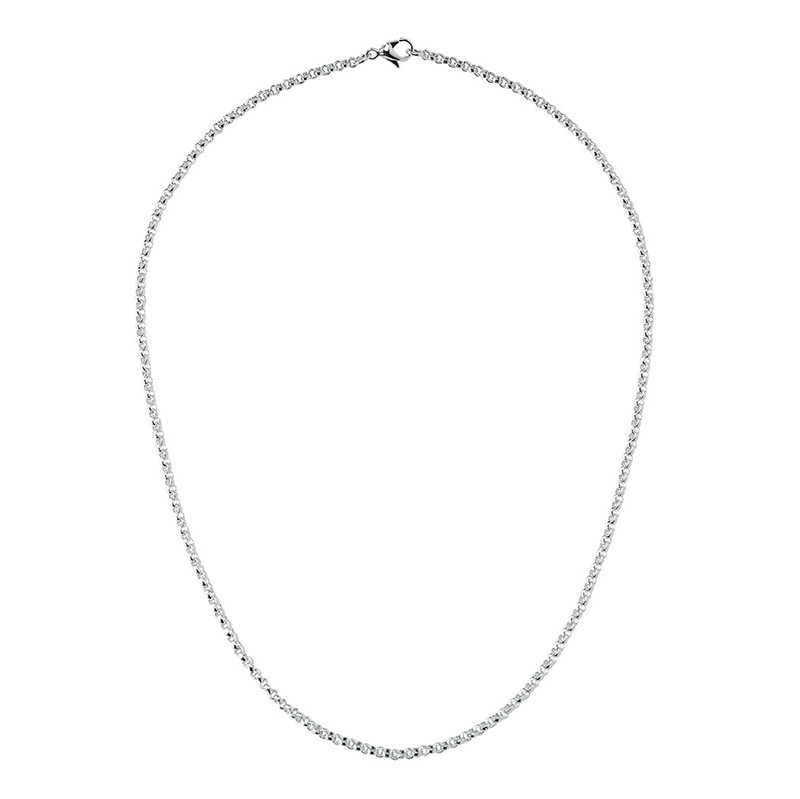 CIRCLE Necklace, rhodium plated
