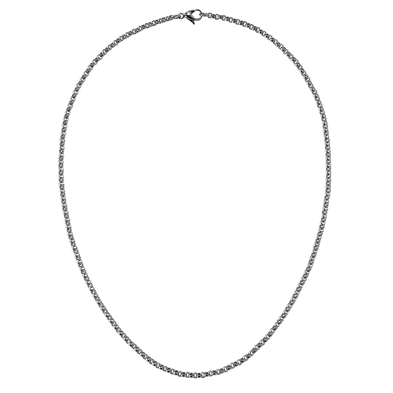 CIRCLE Necklace, ruthenium