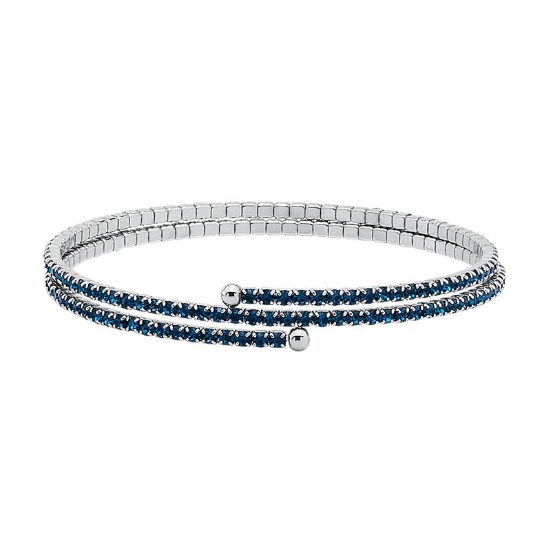 FABULOUS Bracelet, rhodium plated, dark blue