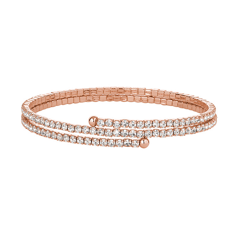 FABULOUS Bracelet, rose gold plated, crystal coloured