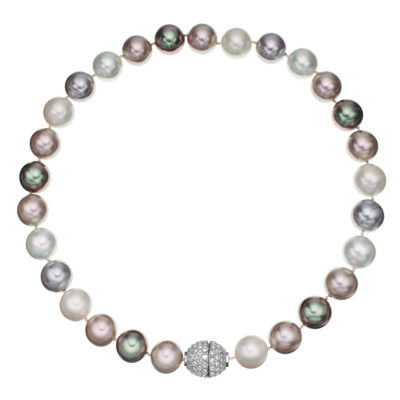 AVA Collier, rhodium plated, multicoloured, crystal