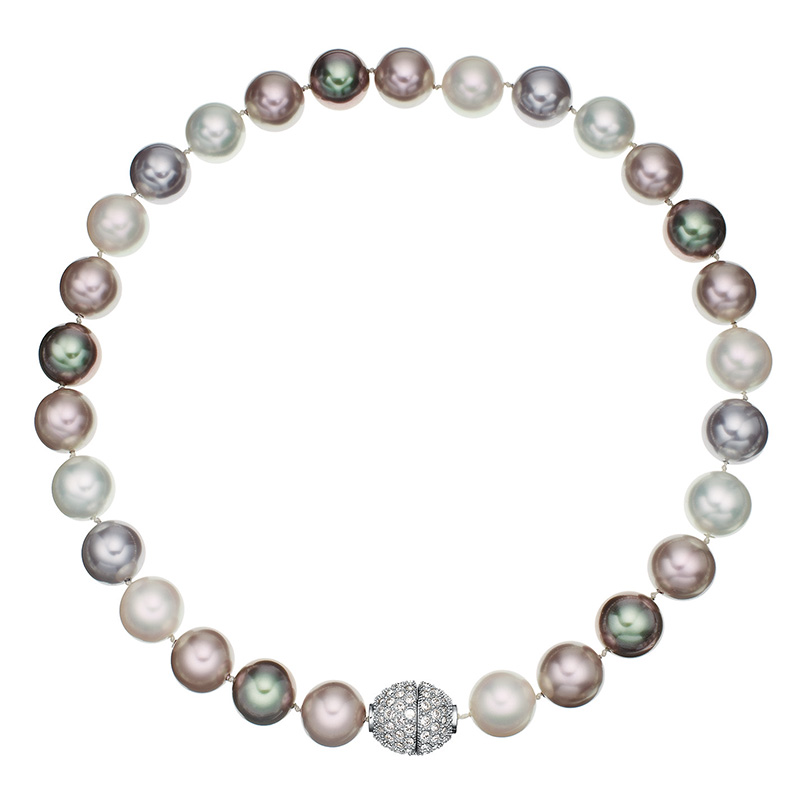 AVA Necklace, rhodium plated, multicoloured, crystal coloured