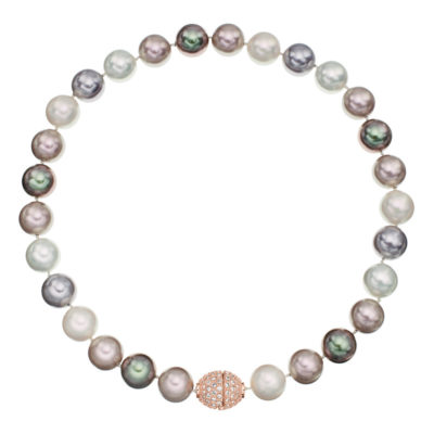 AVA Collier, rose gold plated, multicoloured, crystal