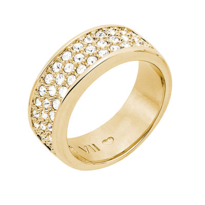 BABY SUGAR RUSH Ring, gold plated, crystal coloured
