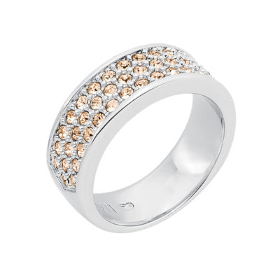 BABY SUGAR RUSH Ring, rhodium plated, nude