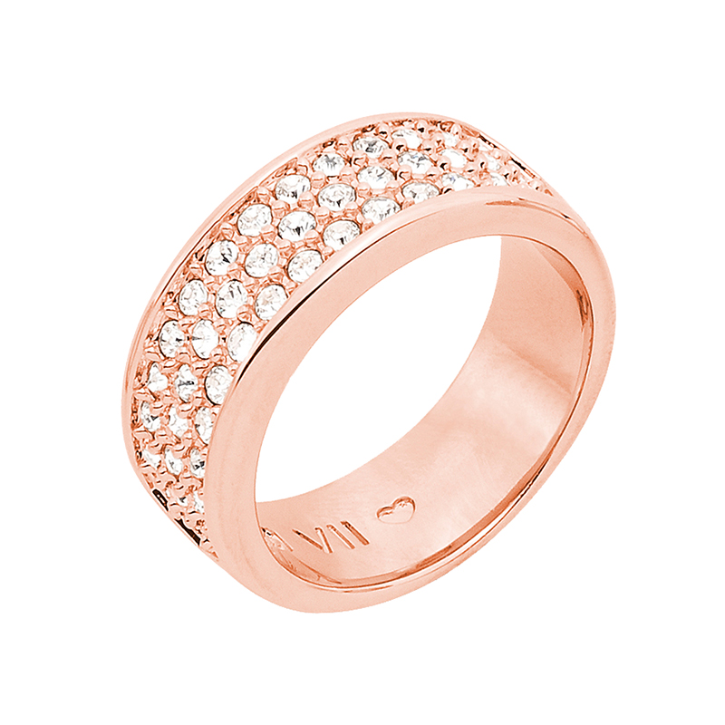 BABY SUGAR RUSH Ring, rose gold plated, crystal coloured