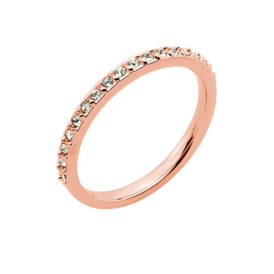 SUGAR Ring, rose gold plated, light green