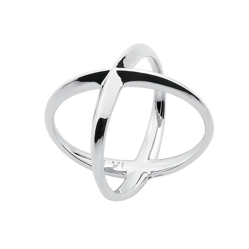 A SKY FULL OF STARS Ring, rhodium plated