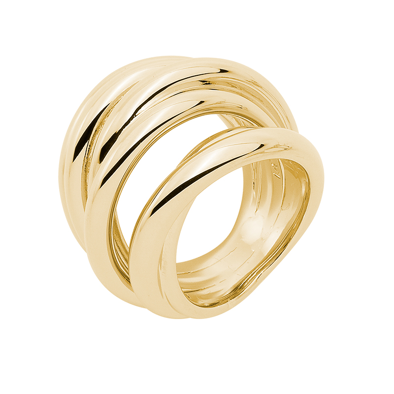 COSMOPOLITAN Ring, gold plated