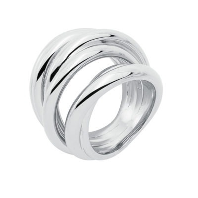 COSMOPOLITAN Ring, rhodium plated