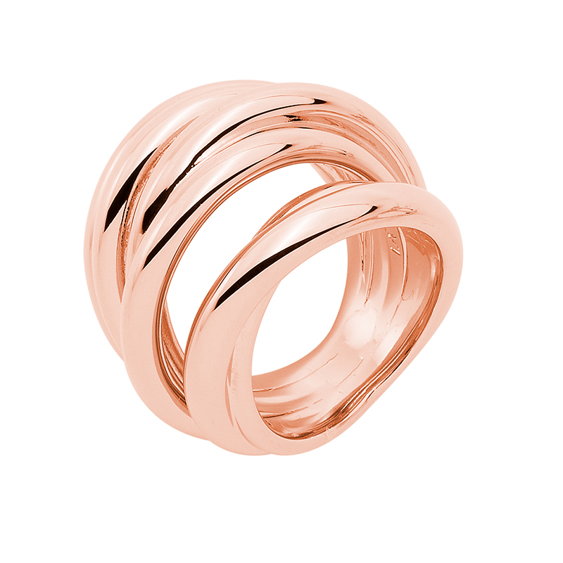 COSMOPOLITAN Ring, rose gold plated
