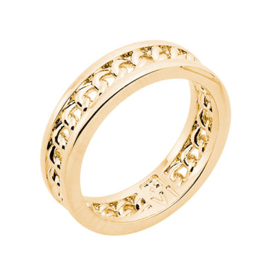 CHAIN LOVE Ring, gold plated