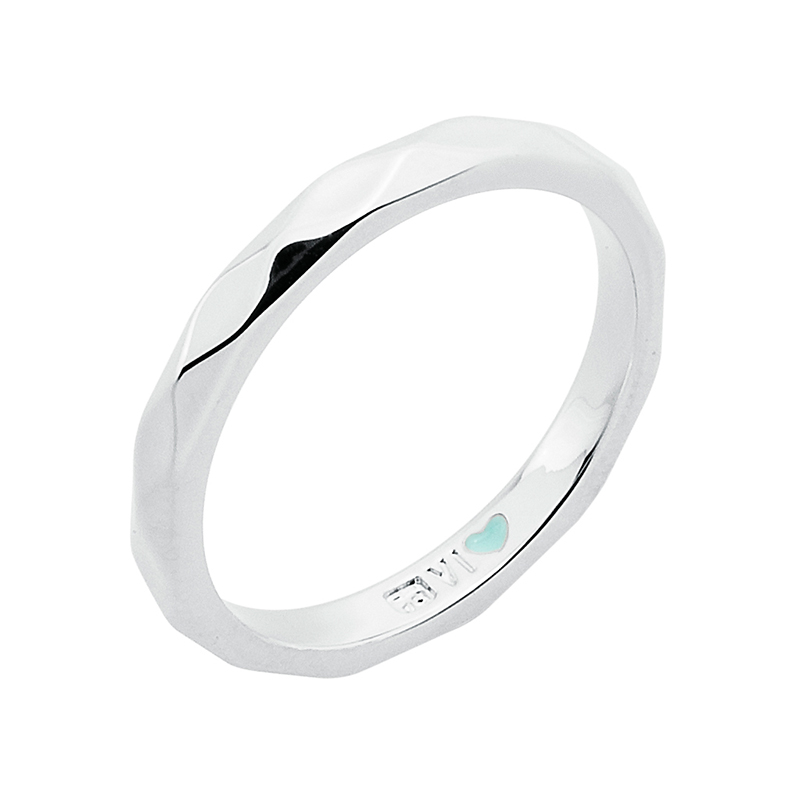 FROM MONDAY TO SUNDAY Ring, rhodium plated