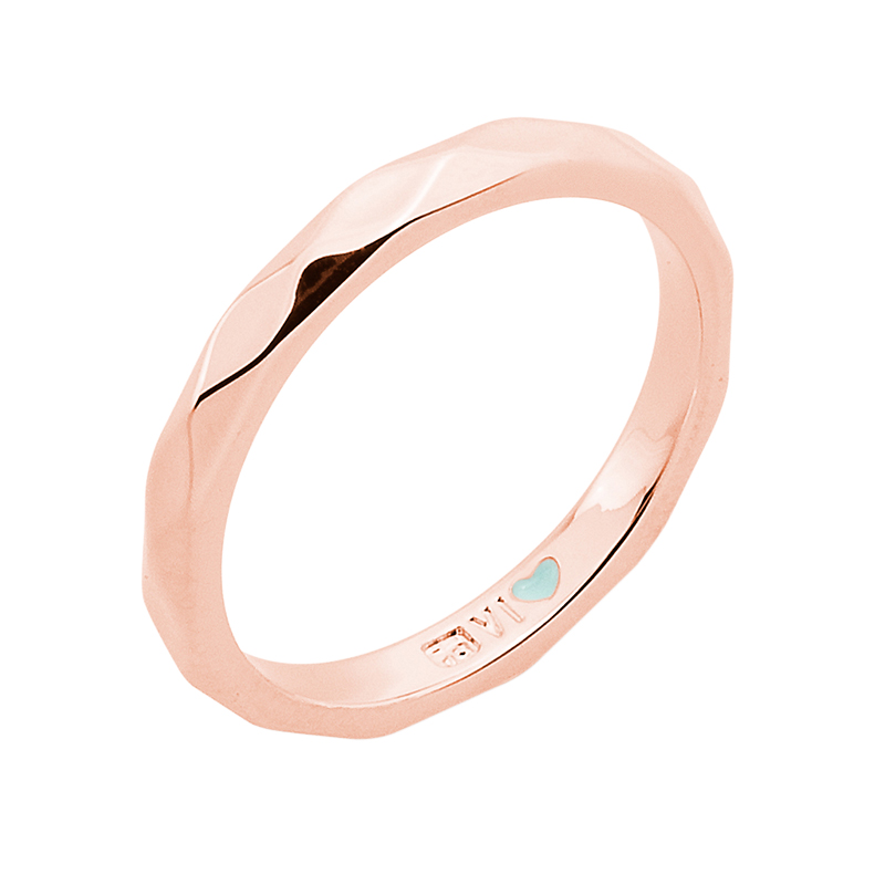 FROM MONDAY TO SUNDAY Ring, rose gold plated