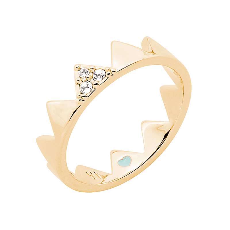 LITTLE CIRQUE DU SOLEIL Ring, gold plated, crystal