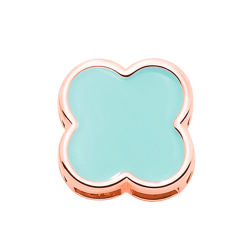 BIG CHIC Pendant, rose gold plated, light turquoise