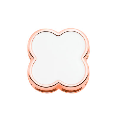 BIG CHIC Pendant, rose gold plated, white