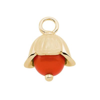 LILLY BELLE Pendant, gold plated, orange