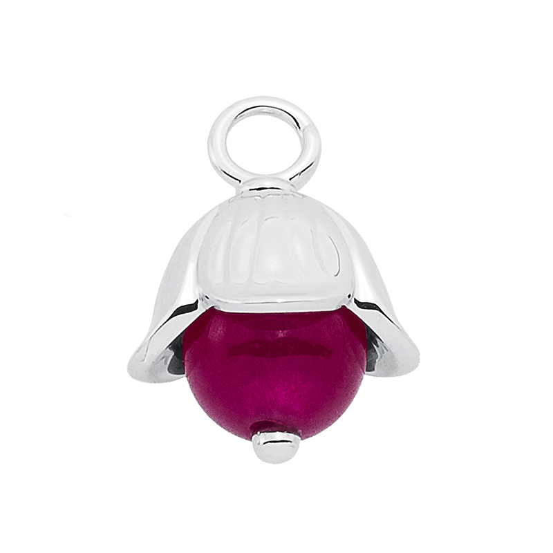 LILLY BELLE Pendant, rhodium plated, cyclame