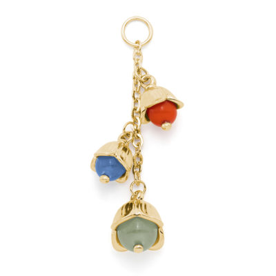 LILLY BELLE Pendant, gold plated, orange, blue, light green
