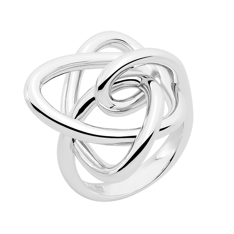 LUCKY UNIVERSE Ring, rhodium plated