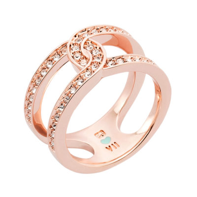DATING A ROYAL Ring, rose gold plated, crystal coloured