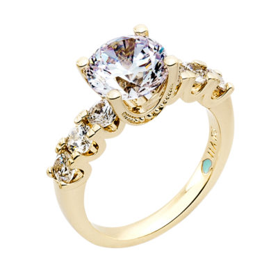 MEGHAN SPARKLE Ring, gold plated, Zirconia
