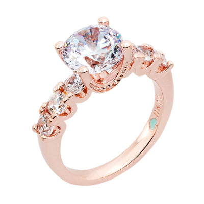 MEGHAN SPARKLE Ring, rose gold plated, Zirconia