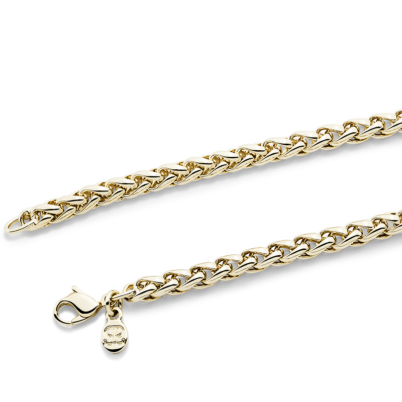 BRAID HEART Necklace, gold plated