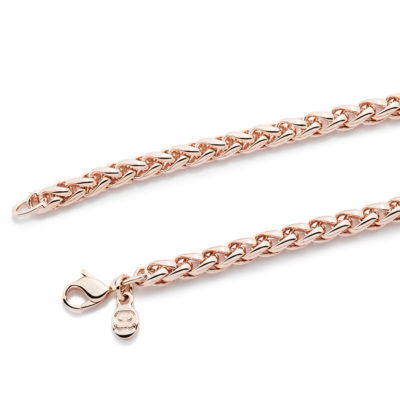 BRAID HEART Necklet, rose gold plated