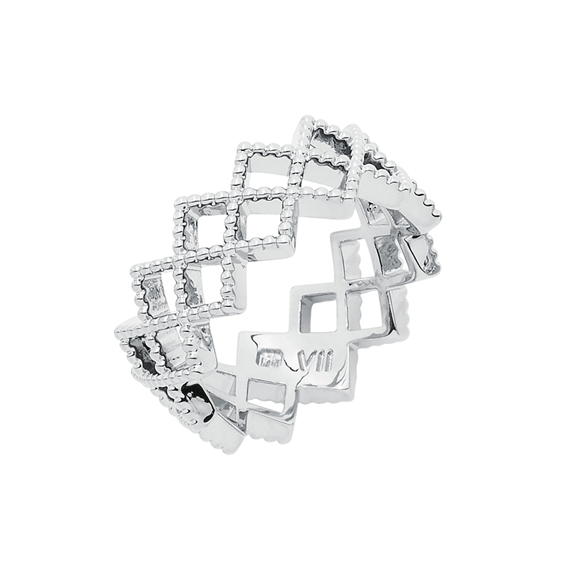 TOUJOURS Ring, rhodium plated