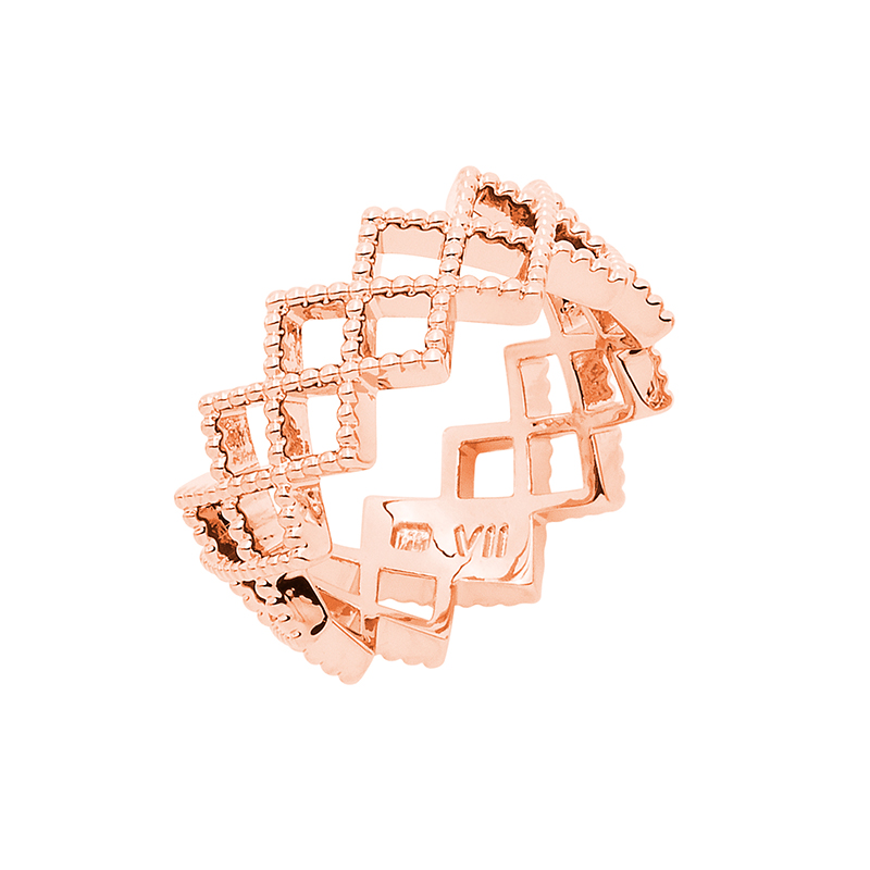 TOUJOURS Ring, rose gold plated