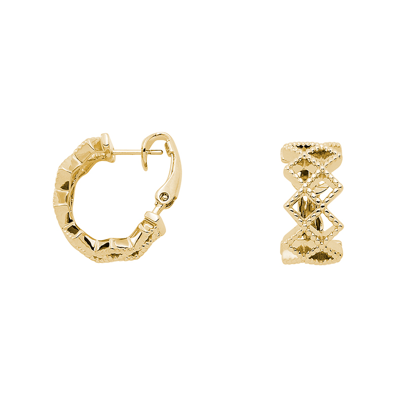 TOUJOURS Ear Creoles, gold plated