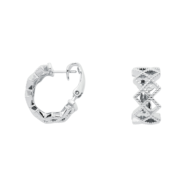 TOUJOURS Earrings, rhodium plated