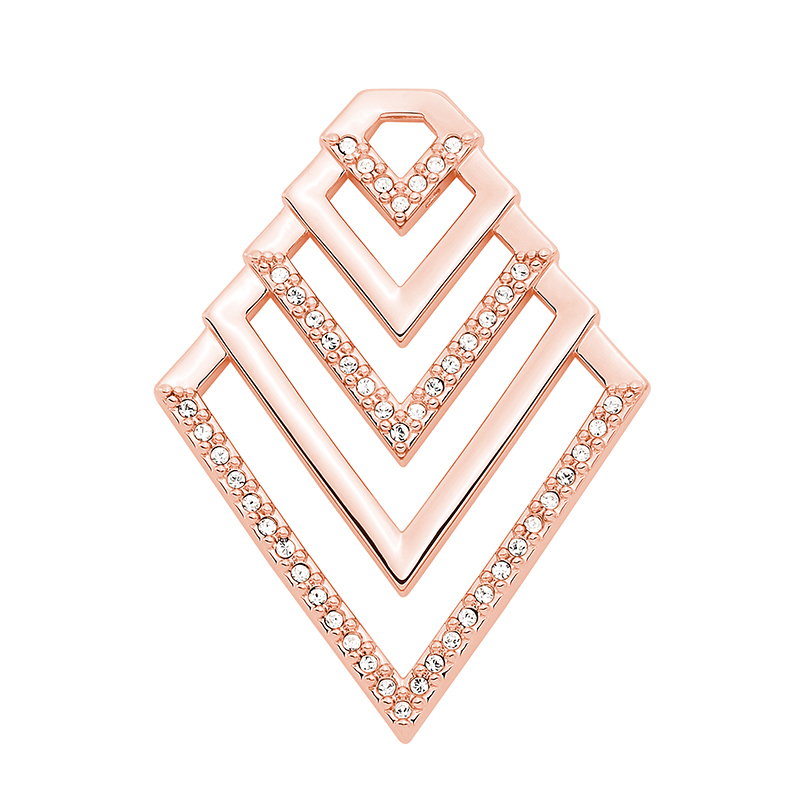 VIENNA Pendant, rose gold plated, crystal coloured