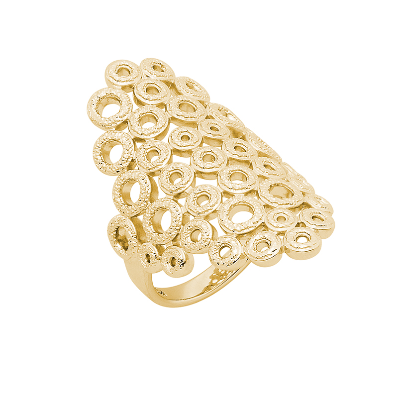 THE KISS Ring, gold plated