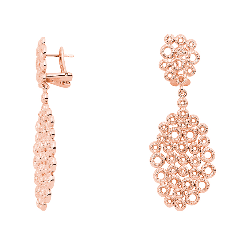 THE KISS Ear Creoles, rose gold plated