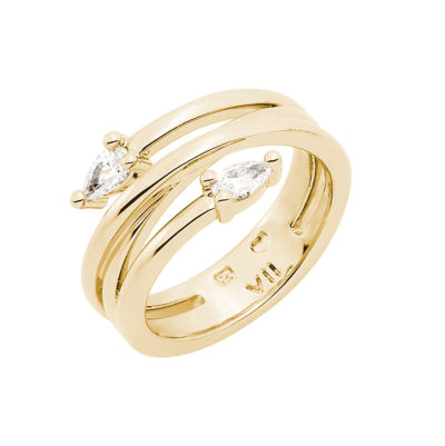 HONEY CANDY Ring, gold plated, Zirconia