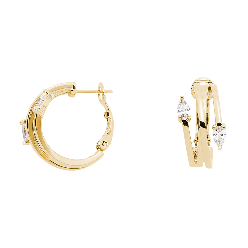 HONEY CANDY Earrings, gold plated, Zirconia