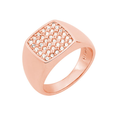 SUGAR DANDY Ring, rose gold plated, crystal coloured