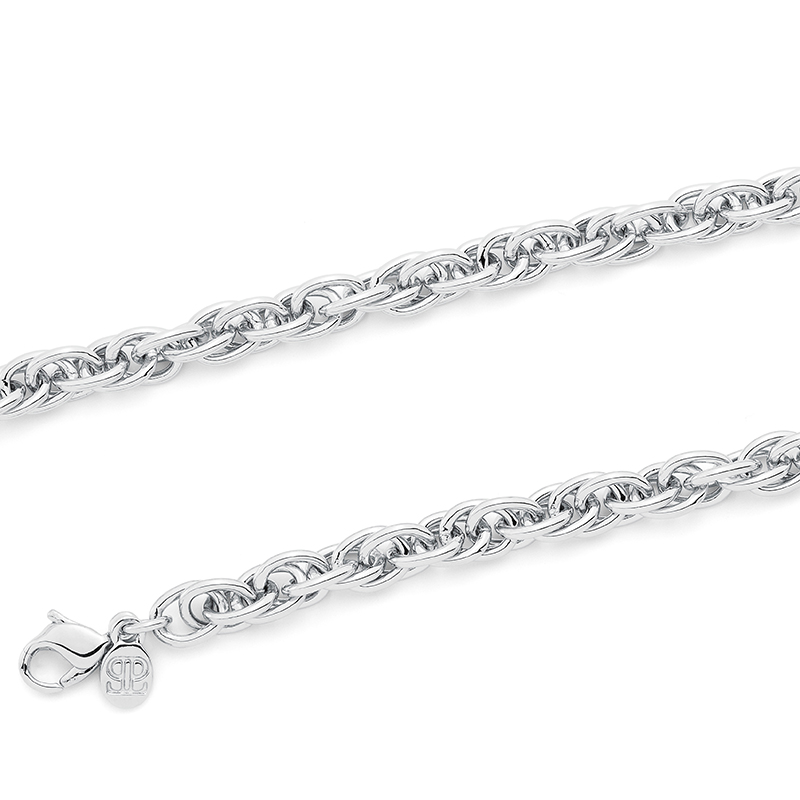 FOUR-EVER Necklace, rhodium plated