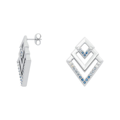 VIENNA Earrings, rhodium plated, multi-blue